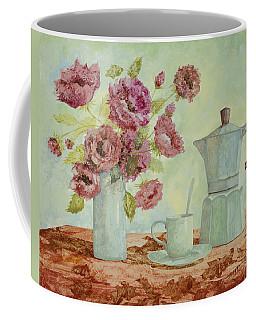 La Caffettiera E I Fiori Amaranto Coffee Mug