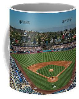 Coffee Mug featuring the photograph La Dodgers Los Angeles California Baseball by David Haskett