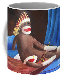 La Grande Sock Monkey Coffee Mug by Randy Burns