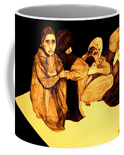 Coffee Mug featuring the drawing La It Khafeen Habibti by MB Dallocchio