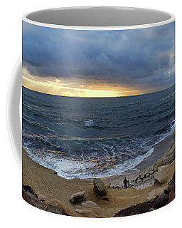 La Jolla Shores Beach Panorama Coffee Mug
