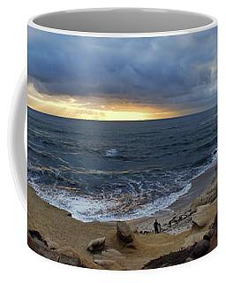 La Jolla Shores Beach Panorama Coffee Mug