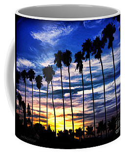 La Jolla Silhouette - Digital Painting Coffee Mug
