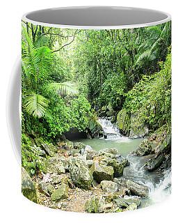 La Mina River Through A Tropical Paradise Coffee Mug