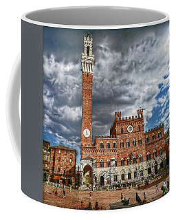 Coffee Mug featuring the photograph La Piazza by Hanny Heim