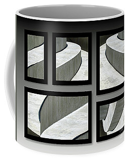 Coffee Mug featuring the photograph La Stairs Collage 01a by Ausra Huntington nee Paulauskaite