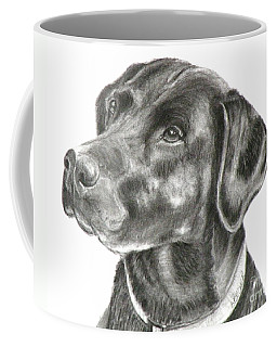Lab Charcoal Drawing Coffee Mug