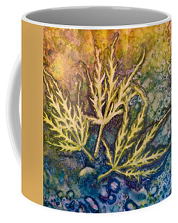 Coffee Mug featuring the painting Lace Leaves by Nancy Jolley