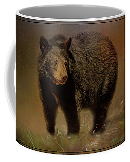 Black Bear In The Fall Coffee Mug