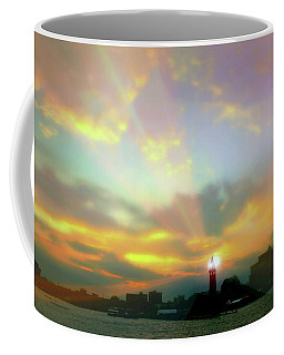 Coffee Mug featuring the photograph Lackawanna Transit Sunset by Diana Angstadt