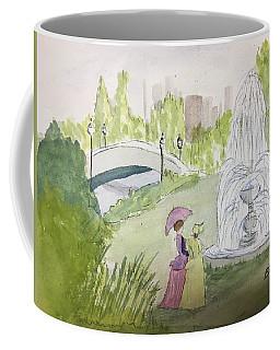 Ladies By Fountain Coffee Mug