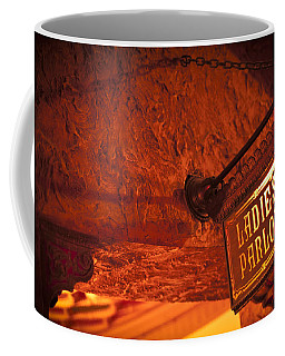Coffee Mug featuring the photograph Ladies Parlor Sign by Carolyn Marshall