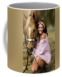 Lady And Her Horse 2 Coffee Mug