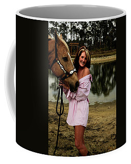 Lady And Her Horse Coffee Mug