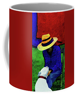Lady And Puppy Painting Coffee Mug