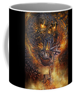 Lady And Skull Coffee Mug