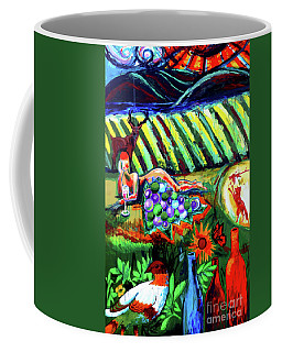 Lady And The Grapes Coffee Mug by Genevieve Esson