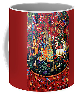 Coffee Mug featuring the painting Lady And The Unicorn Sound by Genevieve Esson