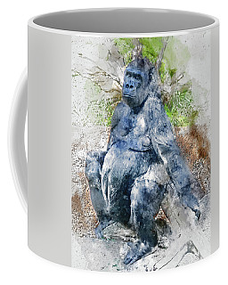 Lady Gorilla Sitting Deep In Thought Coffee Mug