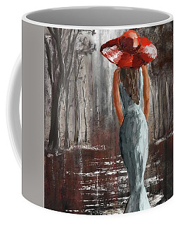Lady In A Red Hat Coffee Mug