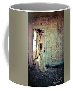 Lady In An Old Abandoned House Coffee Mug