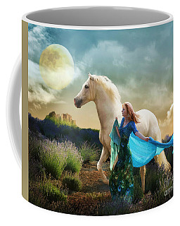 Lady In Blue Coffee Mug