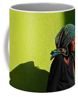 Coffee Mug featuring the photograph Lady In Green by Skip Hunt