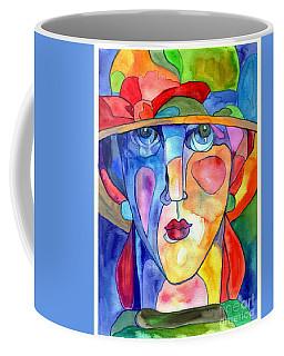 Lady In Hat Watercolor Coffee Mug