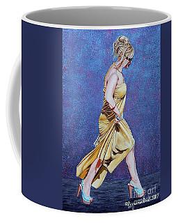 Lady In Hurry Coffee Mug