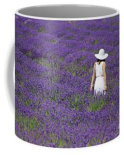Lady In Lavender Field Coffee Mug