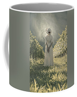 Lady In Vineyard Coffee Mug