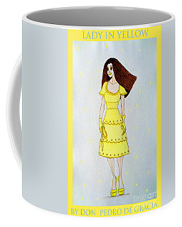 Lady In Yellow Coffee Mug by Don Pedro De Gracia