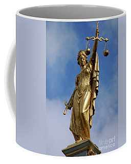 Coffee Mug featuring the photograph Lady Justice In Bruges by RicardMN Photography