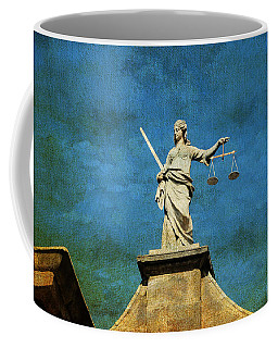 Lady Justice. Streets Of Dublin. Painting Collection Coffee Mug