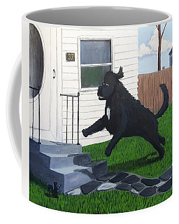 Lady Leaps The Small Front Stairs Coffee Mug