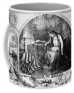 Lady Liberty Mourns During The Civil War Coffee Mug