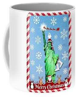 Lady Liberty's Got The Christmas Spirit Iv Coffee Mug