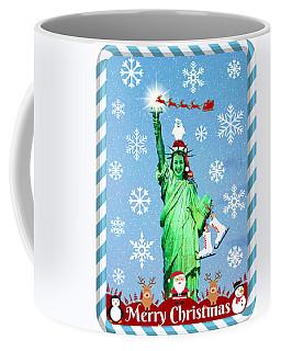 Lady Liberty's Got The Christmas Spirit V Coffee Mug