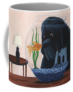 Lady Looks In The Fish Bowl For Mommy And Daddy Coffee Mug