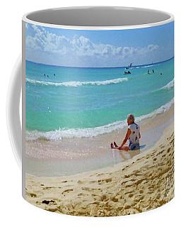 Lady On The Beach Coffee Mug