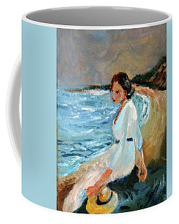 Lady On The Beach Coffee Mug