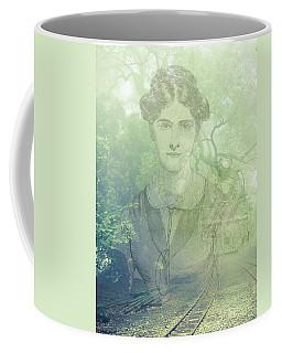 Lady On The Tracks Coffee Mug