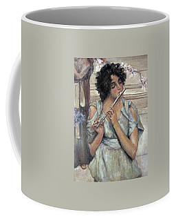 Lady Playing Flute Coffee Mug