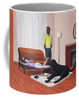 Lady Pulling Mommy Off The Couch Coffee Mug