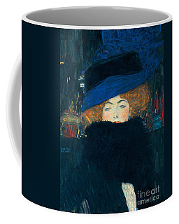 Lady With A Hat And A Feather Boa Coffee Mug