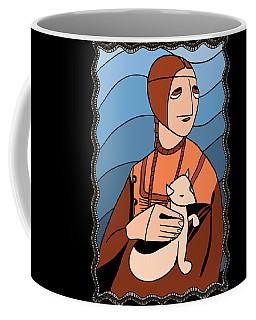 Lady With An Ermine By Piotr Coffee Mug