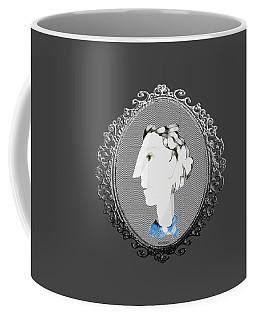 Lady With Blue Scarf Coffee Mug