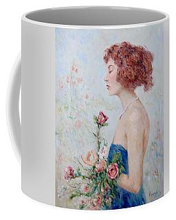 Lady With Roses  Coffee Mug