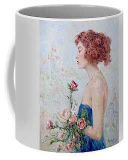 Lady With Roses  Coffee Mug
