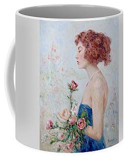 Lady With Roses  Coffee Mug by Pierre Van Dijk